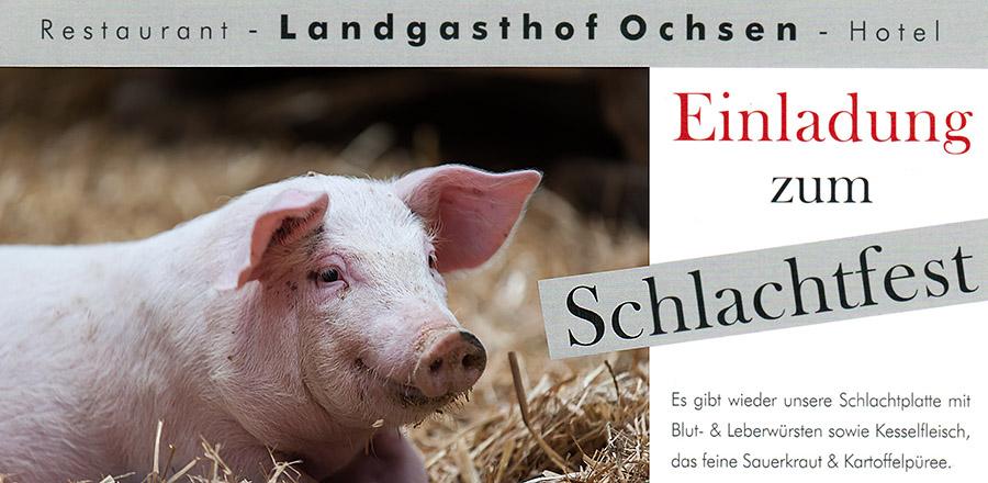 Schlachtfest Seelbach